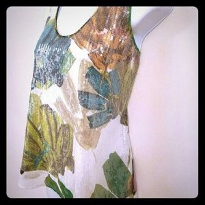 KENNETH COLE Sequins Tank top Sz. M  NWT